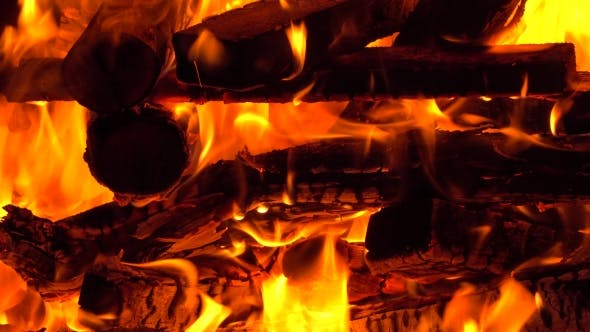 Thumbnail for Burning Firewoods In a Fireplace