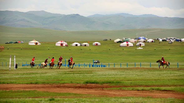 Thumbnail for Men Playing Polo During Naadam Festival 2