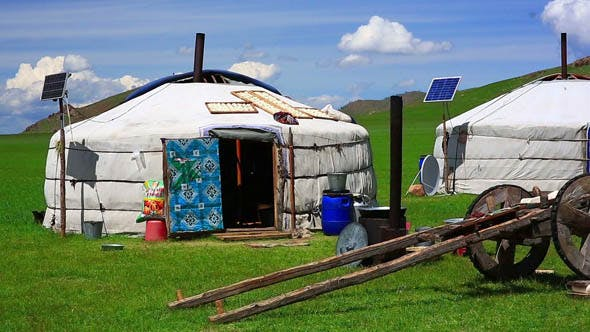 Mongolian Ger Camps with Solar Power 2