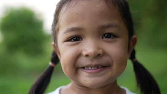 Happy smiling child girl