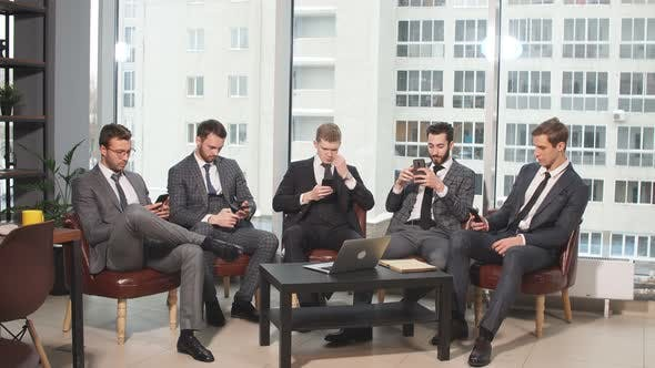 Successful Business People with Mobile Phones