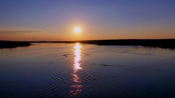 Beautiful sunset in nature
