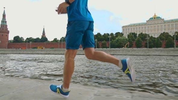 Thumbnail for Athletic Man Runner Against Moscow Kremlin