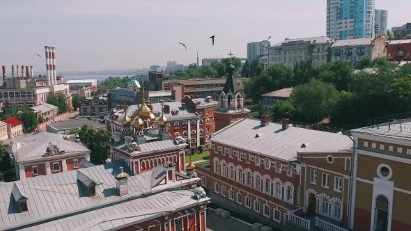 Thumbnail for Aerial Of Orthodox Monastery Complex