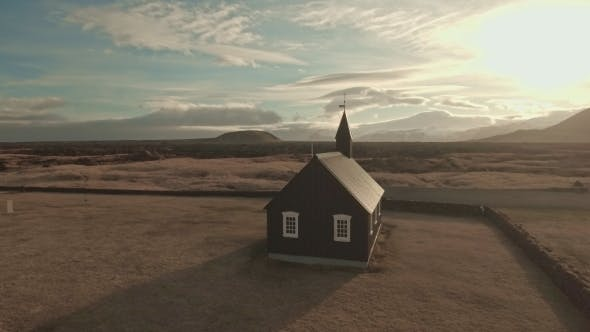 Cover Image for Budir Black Church In Iceland