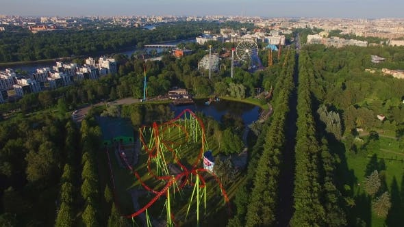 Thumbnail for Aerial View Of Amusment Park