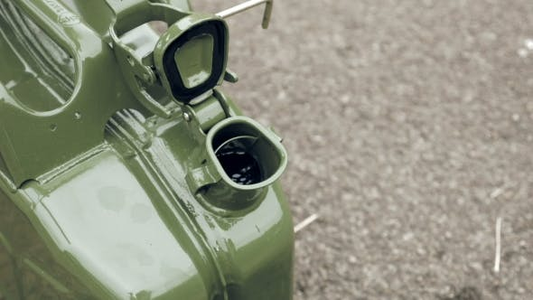 Thumbnail for Man Opens Gas Petrol Or Diesel Jerry Can With Fuel