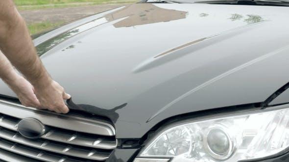 Thumbnail for Auto Mechanic Opens The Car Hood Motor Engine