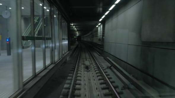 Thumbnail for Underground Train Arriving At The Station