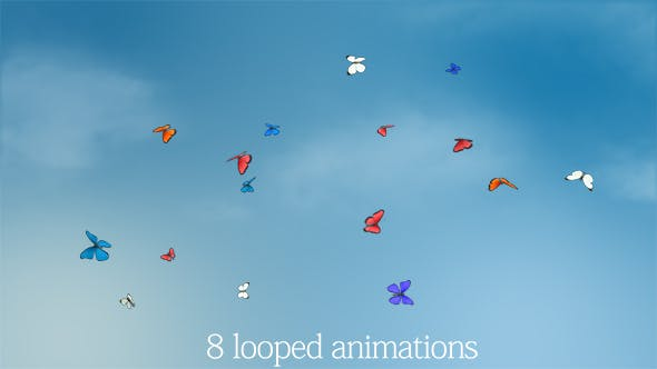 Thumbnail for Butterflies Animations Pack