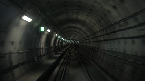 Subway Train On The Route