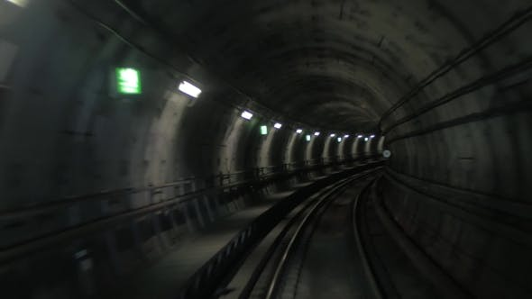 In The Dark Subway Tunnel
