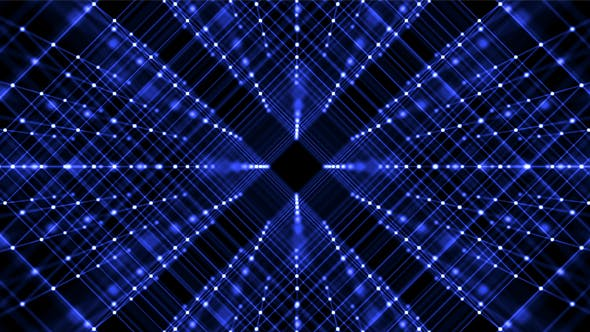 Grid Of Lines and Dots Of Amazing Blue color