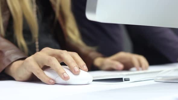 Thumbnail for Woman Working On A Modern Computer