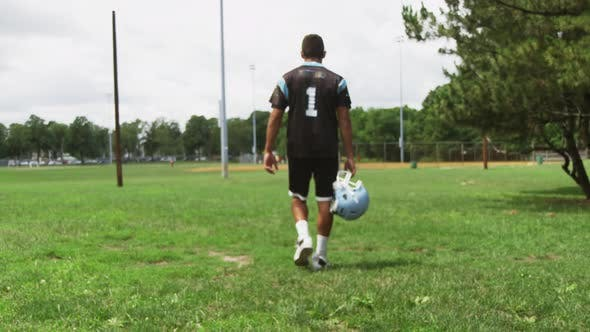 Thumbnail for American Football Player Walks After Practice 07