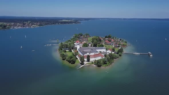 Thumbnail for Aerial View of Frauenchiemsee (Fraueninsel), Germany