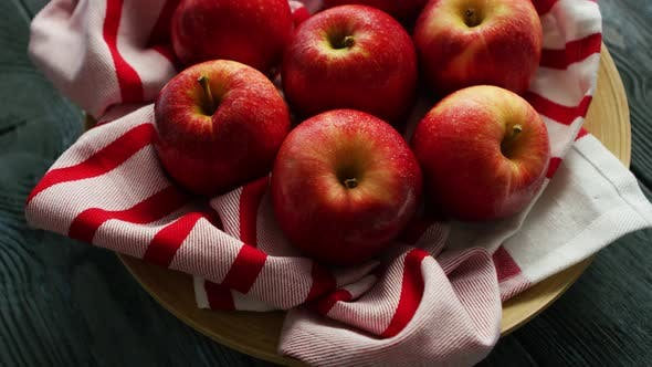 Thumbnail for Fresh Apples on Striped Towel