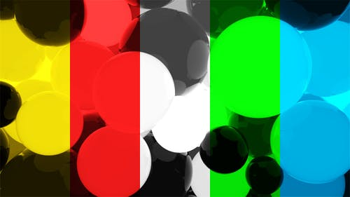 Shiny Colorfull Spheres Moving Background