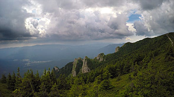 Thumbnail for Aerial View of Dramatic Forest and Mountains