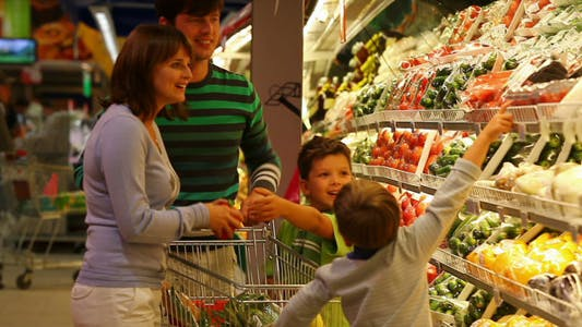 Thumbnail for Family In Supermarket