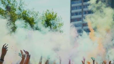 Celebration Of Holi Colors Festival ,