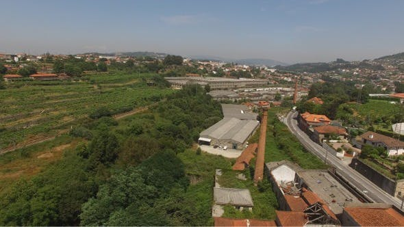 Thumbnail for Aerial View of Abandoned Industrial Park