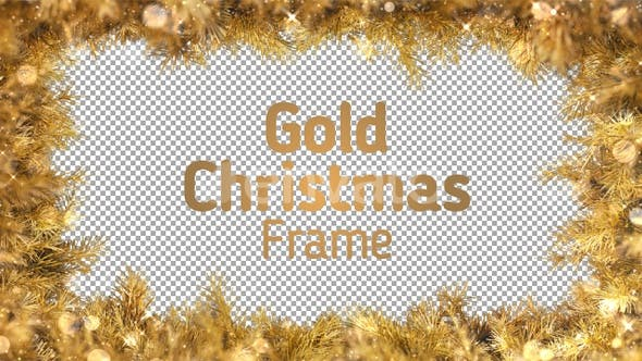 Thumbnail for Gold Christmas Frame