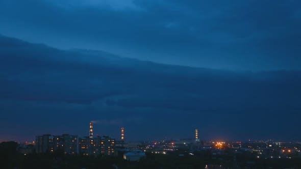 Cover Image for Thunderstorm Over Night City