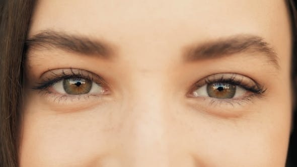 Thumbnail for Of a Woman's Face. Beauty Shot. Beautiful Eyes  Outdoors, Beauty Concept