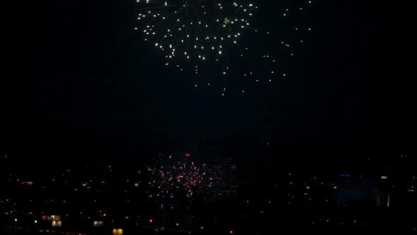 Thumbnail for Fireworks Flashing In The Night
