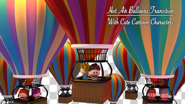 Thumbnail for Toon Kids On Hot Air Balloon Ride Transition