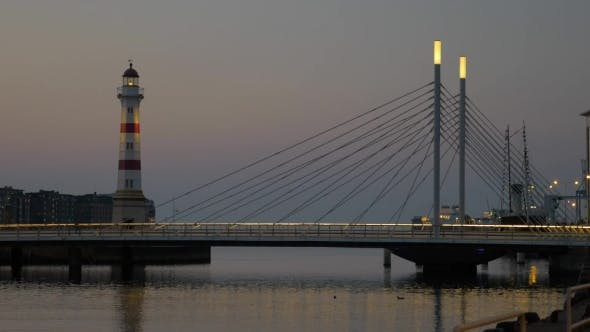 Thumbnail for Lighthouse And Bridge In Late Evening