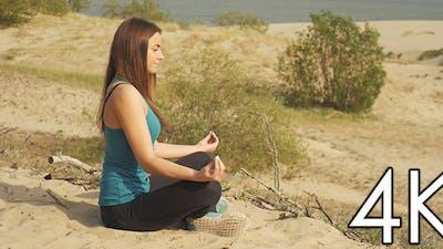 The Girl Meditates