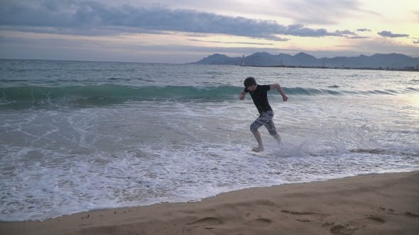 Thumbnail for Man Running On The Beach
