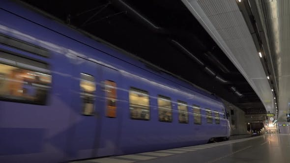 Thumbnail for Subway Train Leaving The Station