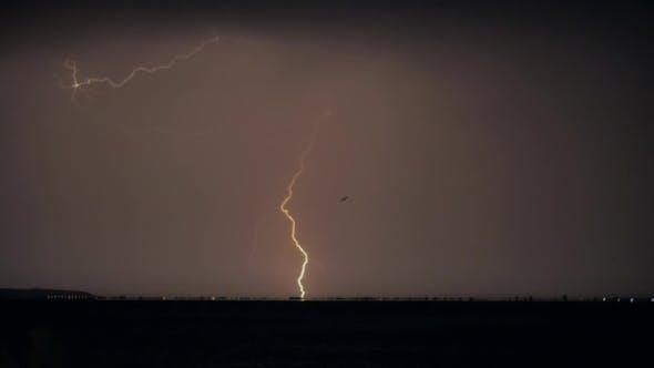 Thumbnail for Lightnings At Night Thunderstorm