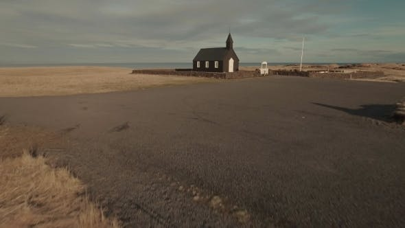 Thumbnail for Black Wooden Church With Sea