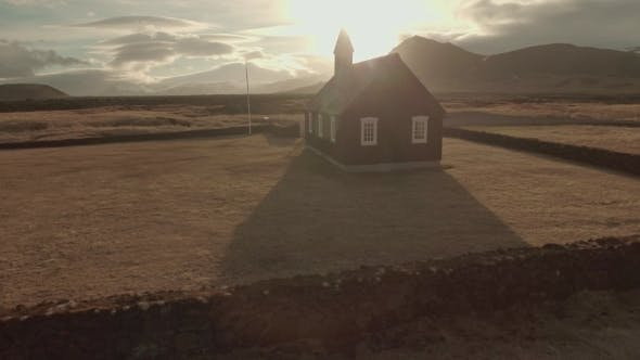 Thumbnail for Small Wooden Church In Iceland