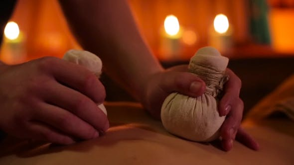Thumbnail for Herbal Bags Massage In Spa Salon