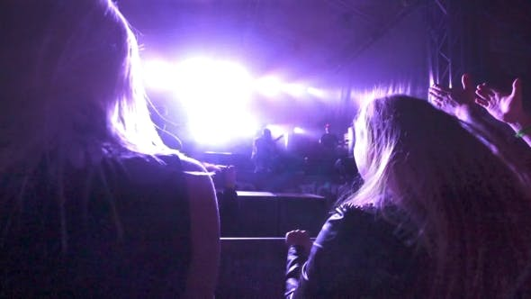 Thumbnail for Two Girls Shaking Heads At Live Concert