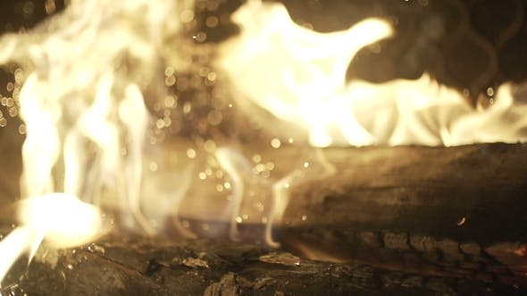 Thumbnail for Burning Wood In The Fireplace