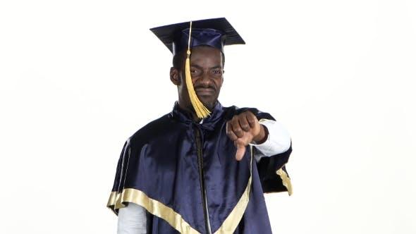 Student Dissatisfied. Graduate Displease