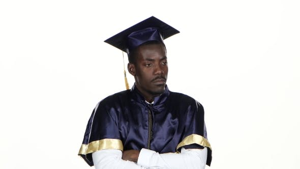 Thumbnail for Graduate In The Graduation Form Expresses Refusal. White.