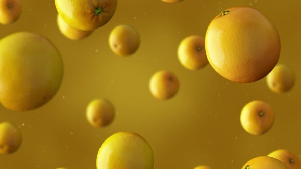 Thumbnail for Falling Oranges And Water Drops