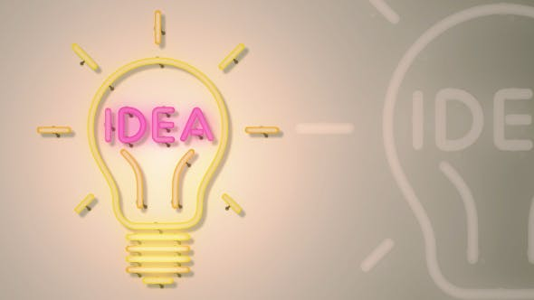 Thumbnail for Idea Light Bulb Neon