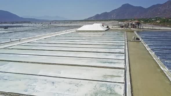 Thumbnail for Fields Covered with Seawater Mechanism Rakes Salt