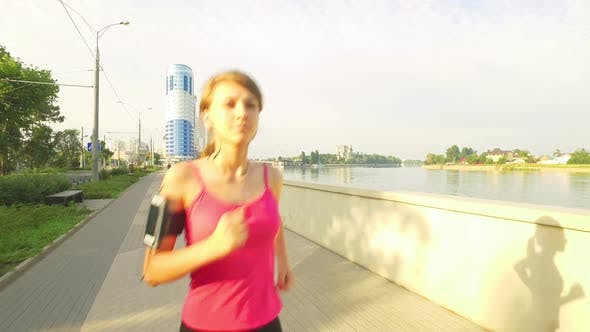 Thumbnail for Runner Woman Running In City Exercising Outdoors 3