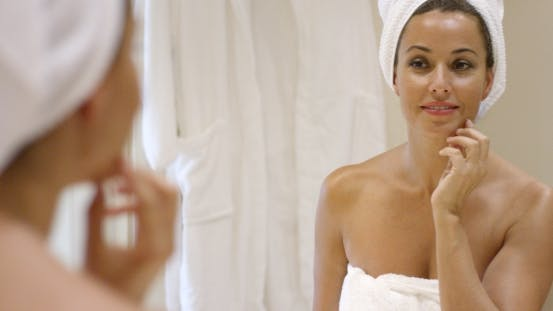 Thumbnail for Gorgeous Young Woman Wrapping Her Hair In a Towel