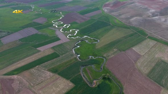 Thumbnail for Aerial Meandering Rivers