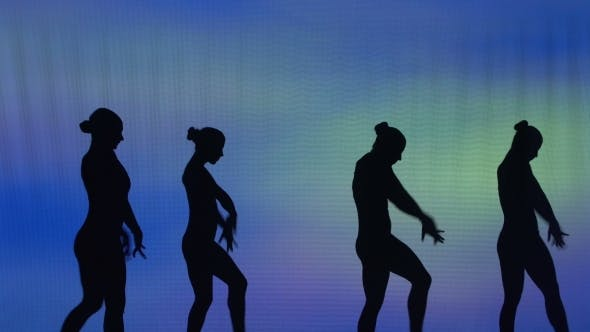 Thumbnail for Silhouette Of Sexy Dancers Who Perform Acrobatic Stunts